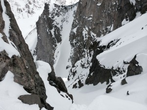 y couloir on backside