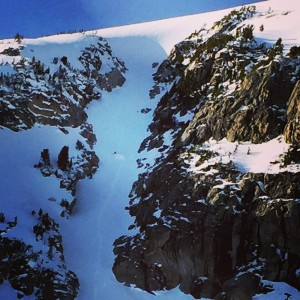 Skiing the Spoon Couloir!