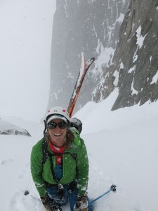 Hidden powder couloir in the Cirque!